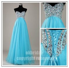 blue prom dress blue dress long prom dress cheap prom by okbridal, $179.00 LOVE THIS!!!!! In white