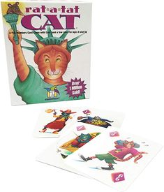 Gamewright Rat-a-tat Cat Game, Multicolour Fun Card Games, Card Games For Kids, Kids Cards, Cat Ages, Curious Kids, Halloween Games For Kids, Kitty Games, Drawing Games, Cool Toys
