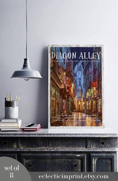 Harry Potter places Posters Set of 8 posters Instant