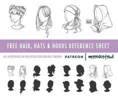 Hats - Hoods - Hairstyles : Free REFsheet by MoondustOwl