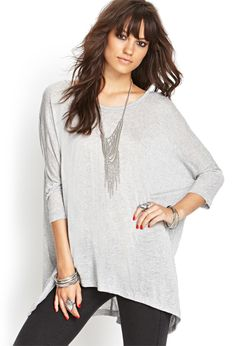 Oversized Knit Top | FOREVER21 - 2055879591