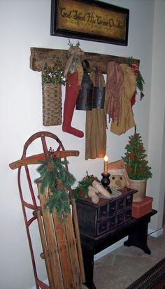 Primitive Christmas Decorating Ideas | Primitive Christmas entryway - Living Room Designs - Decorating Ideas ...