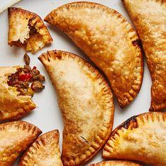 Argentinian Beef Empanadas Recipe | Bon Appétit Baked Empanadas, Chicken Empanadas, Empanadas Recipe Dough, Empanada Dough, Bon Appetit, Beef Recipes, Cooking Recipes, Pastry Recipes, Drink Recipes