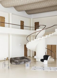 A grand staircase… Heidi Lerkenfeldt 156 – Interior design Photo Gallery Interior Design Inspiration, Home Interior Design, Exterior Design, Interior Architecture, Interior And Exterior, Interior Decorating, Interior Stylist, Daily Inspiration, Copenhagen Design