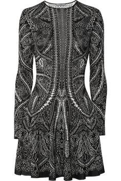 Alexander McQueen Knitted silk and wool-blend intarsia dress $2,080