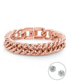 Another great find on #zulily! Rose Gold Chain-Link Bracelet #zulilyfinds