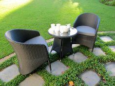 Calisto All-Weather Wicker Patio Bistro Set. Balcony Furniture, Outdoor Furniture Sets, Outdoor Decor, Bistro Set, Go Outside, Wicker, Outdoor Living, Hand Weaving, Patio
