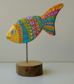 Sea Crafts, Fish Crafts, Ceramic Painting, Painting On Wood, Cutlery Art, Nautical Quilt, Clay Fish, Fish Quilt, Paper Mache Crafts