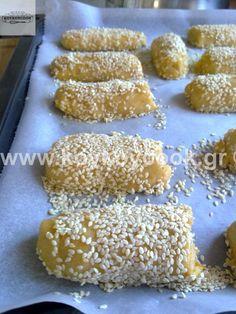 Greek Cookies, Greek Sweets, Mediterranean Recipes, Greek Recipes, Plant Based Recipes, Cookie Recipes, Biscuits, Vegetarian Recipes, Deserts