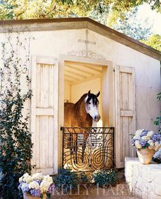 Cottage stables- I want this whole scenario , pony included Dream Stables, Dream Barn, Horse Stables, Horse Farms, My Horse, Horse Love, Horse Tips, Clydesdale, All The Pretty Horses