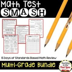 This three-week test prep activity incorporates thirteen vital standards for fourth grade math. Each day the students will answer 13 questions, one on each of the standards. Fifth Grade Math, Grade 3, Fourth Grade, Elementary School Counseling, Elementary Schools, Teaching Strategies, Leadership Activities, Group Activities, Daily Math
