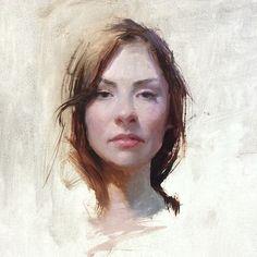 Jeremy Lipking - Portrait Santanamina