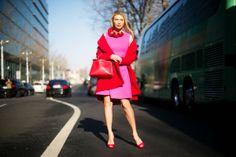 C'est incroyable! Street style, Paris Fashion Week, March 2014.