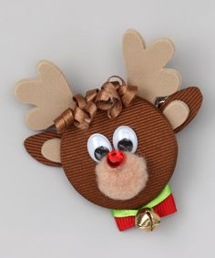 Take a look at this Brown Rudolph Clip by Picture Perfect Hair Bows on #zulily today!