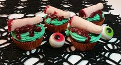 Cupcake splatter Halloween