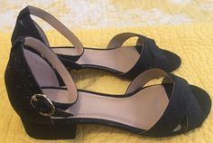 Kelly & Katie Size 8.5 Shoes Sandals Peep Toe Pumps Black New Womens Party #KellyKatie #AnkleStrap #Party