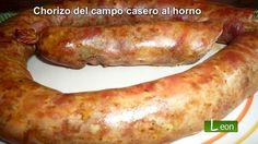 Chorizo del campo casero al horno. Receta del rico Chorizo.