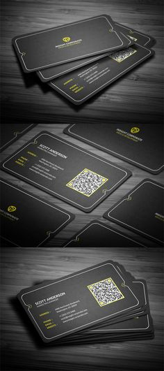 Rounded Modern Business Card- Never really thought of using a scan code for cards