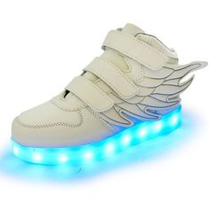 New Wing Children Shoes Breathable Sneakers Fashion Sport Led Usb Luminous Lighted Shoes for Kids glowing Boys Casual Girls