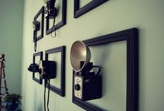 Antique cameras in frames - wall art