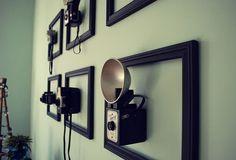 Antique cameras in frames - wall art