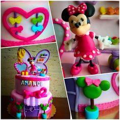 Minnie Mouse Bowtique cake @hazlodulce