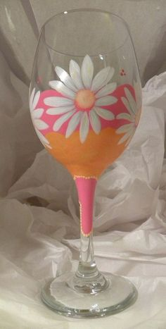 Painted Wine Glass by GranArt  and other ideas