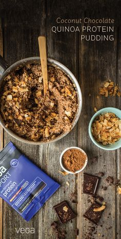 Move over rice pudding. Quinoa pudding is the new cool kid on this block. Rice just can't compete with the protein and texture quinoa provides, especially with the addition of Vega Sport Performance Protein!