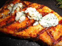 Black and Bleu Marlin with Caramelized Onions