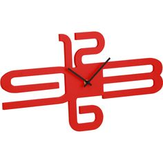 Astaire Wall Clock in Red