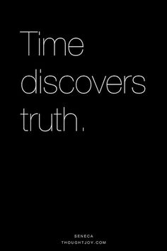 Time discovers truth