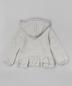 This hoodie features a lace accent in a cheerful hue. A split kangaroo pocket provides a convenient spot for hands, and the quick-zip front adds ease to dressing.