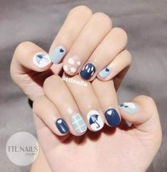Ten simple cute nails popular with young women in 2019 Getting used to the sexy and mature manicure style and occasionally changing a simple and lovely manicure is also a good choice. Here are ten cute nails. Luv Nails, Swag Nails, Pretty Nails, Nail Art Designs Videos, Cute Nail Art Designs, Classy Nails, Simple Nails, Romantic Nails, Korean Nail Art