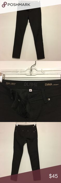 DL1961 Black Stretch Skinny Jean (EMMA) Super comfortable well made black Legging Jean from DL1961 I've worn these 3x! They keep their color ❤️❤️ DL1961 Jeans Skinny