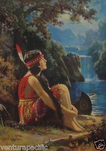 "Meditation : Indian Maiden : R. Atkinson Fox : Fine Giclee Poster 11x17"""