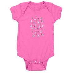Baby Bodysuit With Clover Flowers