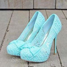 Elegant Little Blue Platform Stiletto Heels with Bowtie
