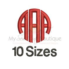 Circle Monogram Embroidery Font - 10 Sizes - BX Embroidery Font Included