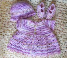 Crochet Baby Dress Crochet Newborn Dress by TillieLuvsTreasures
