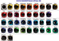 1 Paar Sicherheitsaugen 6mm - 16mm transp 33 Farbe von Bastelmaus999 auf DaWanda.com