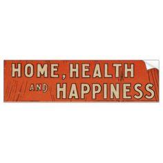 Traditional Family Life Vintage Retro Orange Black Bumper Sticker