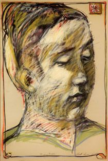 KUUTTI LAVONEN Nuori Buddha (1987) Buddha, Pastel Portraits, Poetry Books, Etchings, Artists, Fine Art, Eye, Drawings, Painting