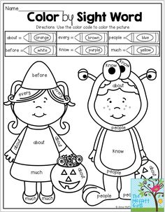 90 Best Halloween Sight Word Plans images   Sight words ...