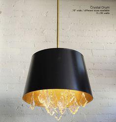 Crystal Drum Chandelier