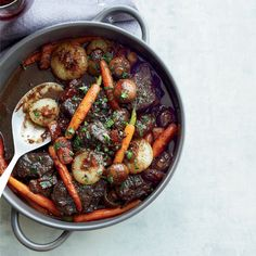 Beef Stew in Red Wine Sauce | Jacques Pépin's incredible beef stew is packed with tender chunks of flatiron steak.