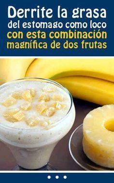Ingredientes: + 1 plátano o banana, + 1 cucharadita de semillas de linaza, + 1 cucharadita de jengibre rallado, + ½ taza de rodajas de piña, + leche de almendras 1/3 taza.