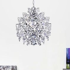 Shop for Silver Orchid Taylor Elegant Indoor Chrome/ Crystal Chandelier. Get free delivery at Overstock - Your Online Ceiling Lighting Store! Get in rewards with Club O! Home Decor Lights, Easy Home Decor, Handmade Home Decor, Cheap Home Decor, Pottery Barn, Sparkling Lights, Do It Yourself Home, Interior Exterior, Interior Design