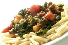 Ground Meat Tomatoes and Spinach