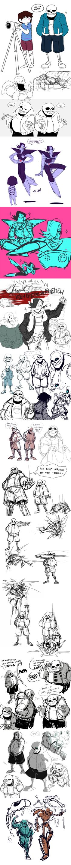 UNDERTALE SKETCHDUMP 1 [spoilers!] by inside-under.deviantart.com on @DeviantArt