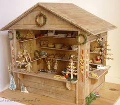 Miniatures et maisons de poupees : charrette ji colin: